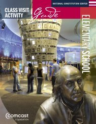CLASS VISIT ACTIVITY Guide - National Constitution Center