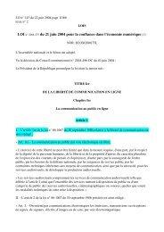 LOI n° 2004575 du 21 juin 2004 pour la confiance dans l ... - Globenet