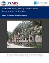 Energy Audit Report of the Khashuri Hospital - Tkibuli Tea