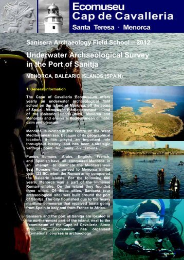 2012 – Underwater Archaeological Survey in the Port of Sanitja ...