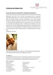 presse-information - Hotel Römerbad