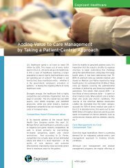 Adding Value to Care Management by Taking a Patient ... - Cognizant