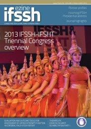 2013 IFSSH-IFSHT Triennial Congress overview - SASSH
