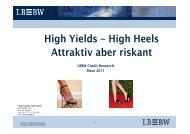 High Yields – High Heels Attraktiv aber riskant - Landesbank Baden ...