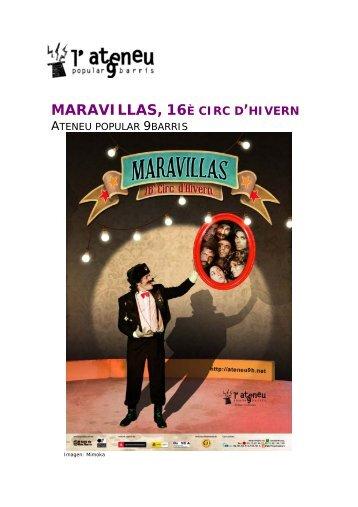 MARAVILLAS, 16 - Ateneu Popular 9 Barris