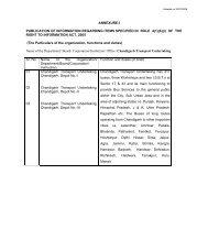 ANNEXURE-I PUBLICATION OF INFORMATION ... - Chandigarh