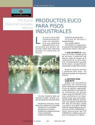 Publireportaje Productos EUCO para pisos industriales