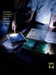 MFA Graphic Design brochure - Vermont College of Fine Arts