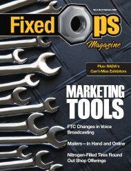February 07: Marketing Tools - Fixed Ops