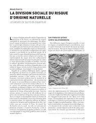 la division sociale du risque d'origine naturelle - Annales de la ...