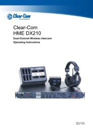 DX210 User Manual - Clear-Com