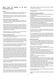 1 General Terms and Conditions of the Hotel Accommodation Contract