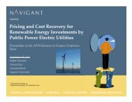 Pricing and Cost Recovery for Renewable Energy Investments by ...