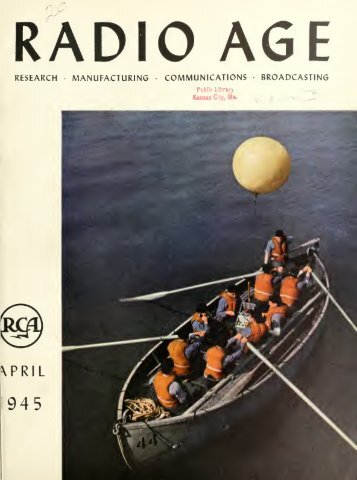 Radio Age - 1945, April - 36 Pages, 3.2 MB, .PDF - VacuumTubeEra