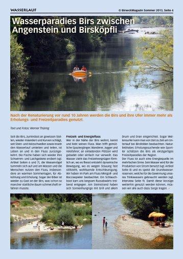 Wasserparadies Birs zwischen Angenstein und ... - Birseck Magazin