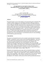environmental security in practice: transboundary natural