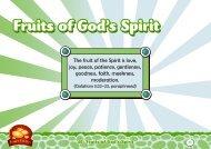 Fruits of God's Spirit - TFI Online