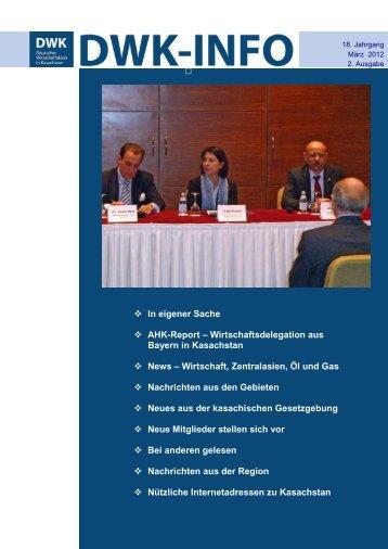 DWK-Info Kasachstan 2012-03 - AHK Zentralasien