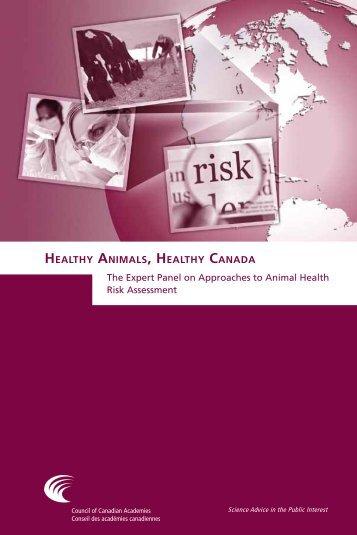 Healthy Animals, Healthy Canada - Council of Canadian Academies