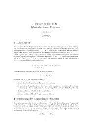 Lineare Modelle in R: Klassische lineare Regression