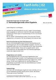 Apollo-Optik Tarifinfo 2 MTV - Fachbereich Medien, Kunst und ...