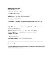 IPAD Integration Mini-Grant Project Application Form ... - Navigator