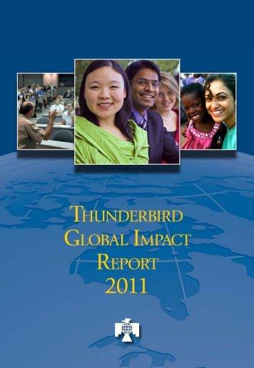 THUNDERBIRD GLOBAL IMPACT REPORT - Thunderbird Magazine