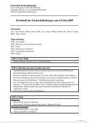 Protokoll der Fachschaftsitzung vom 13.Mai 2009