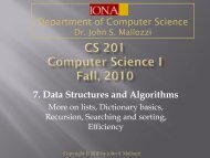 7. Data Structures and Algorithms