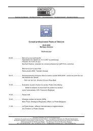 Conseil professionnel Poste et Télécom - Eurofedop