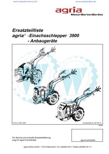 Ersatzteilliste agria â -Einachsschlepper 3900 - Wölfnitzer ...