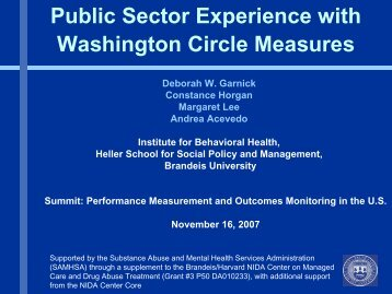 Public Sector Experience with Washington Circle Measures - UCLA ...
