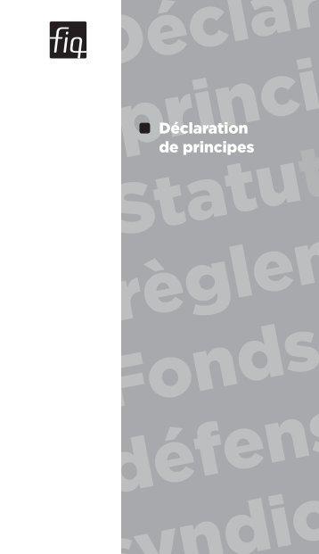 Déclaration de principes - FiQ