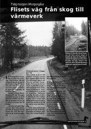Fliset från skog till värmeverk - Novator