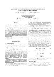 AN ITERATIVE ALGORITHM FOR LINEAR INVERSE PROBLEMS ...