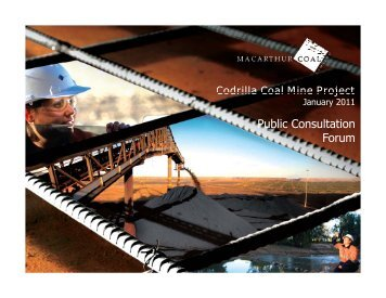 Draft EIS Public Consultation Forum Nebo - Peabody Energy