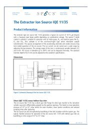 The Extractor Ion Source IQE 11/35 - Specs