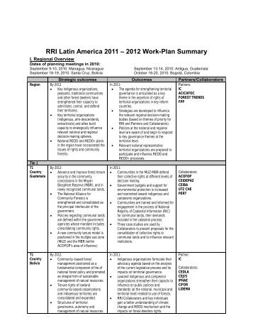RRI Asia: 2009-2012 Work-Plan Summary - Rights and Resources ...