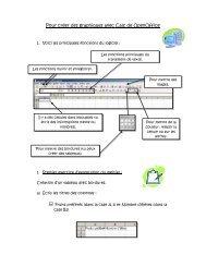 Pour créer des graphiques avec Calc de OpenOffice