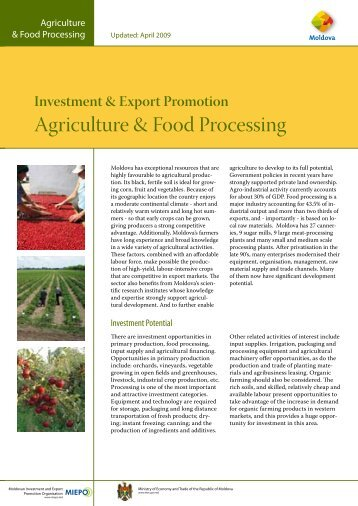 Agriculture & Food Processing