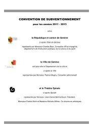 Compagnie Théâtre Spirale 2011-2013 avec ... - Ville de Genève