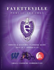career and academic planning guide - Fayetteville Public Schools