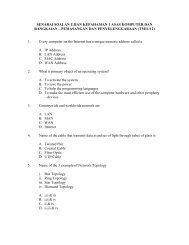 senarai soalan ujian kefahaman 1 asas komputer dan rangkaian
