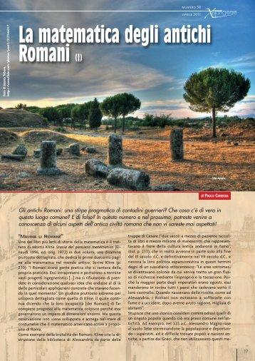 La matematica degli antichi Romani (I) - Caressa.it