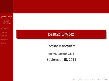 pset2: Crypto