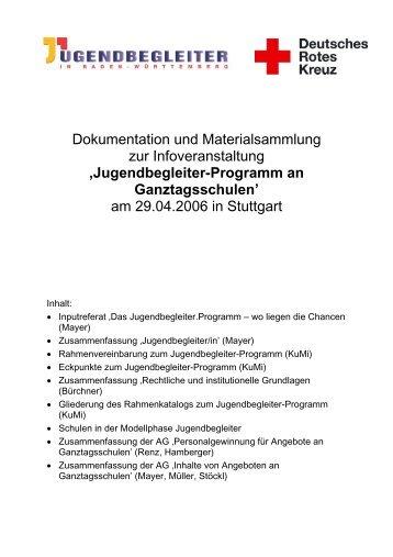 Jugendbegleiter-Programm - Jugendrotkreuz Baden-Württemberg