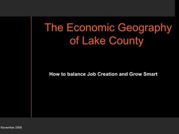 Economic Geography of Lake County Presentation