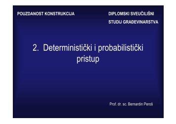 2. Deterministički i probabilistički pristup