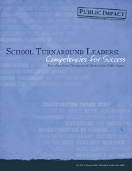 School Turnaround Leaders: Competencies for - Public Impact