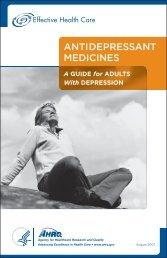 antidepressant medicines - AHRQ Effective Health Care Program